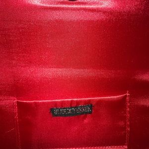 Bijoux Terner Bags - Red satin and bead evening clutch.